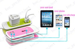 Wholesale Uk Products - 2016 new product 3 in 1 kits dual usb port charger mini travel power strip extension 1.4m + 1m charger cable for gift