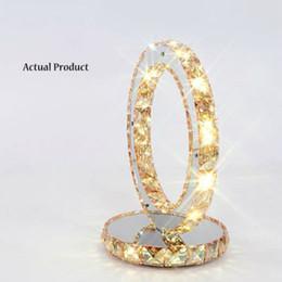Wholesale Crystal K9 Table Lamp - Amber crystal Transparent crystal LED Modern Chic Contemporary K9 Crystal Desk Table Beside Lamp Lights Chrome base