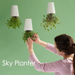 Wholesale Floor Planter - Creative Sky Planters Not Breakable Upside Down Type Garden Pot Save Space Plastic Hanging Flowerpot For Florist Shop Decor 21cx B