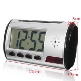 Wholesale Spy Cam Box - Portable Hidden Camera Alarm Clock Spy Camera with Motion Detection Remote Control Home Security Recorder Nanny Cam No Retail Box