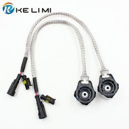 Metallo / ABS 35W / 55W D2S D2R D2C D2 Connettore HID Adattatore per presa Lampadina allo xenon Connettore di conversione Adattatore per cablaggio AMP Plug da