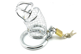 bdsm stainless steel chastity belts 2018 - Male chastity device Adult Cock cage Stainless Steel bdsm chastity adult sex toys bondage fetish sex toys,adult sex products for men