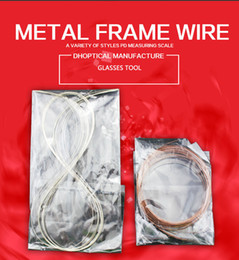 Wholesale Welding Wiring - free shipping Silver welding wire glasses accessories glasses material 10M eyeglassesa accessories for glasses shop free shipping