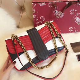 Wholesale Genuine Leather Fringe Handbags - Marmot Matelassé shoulder bags women bag luxury brand real leather crossbody bag chain bags fringe designer handbags high quality purse 2017