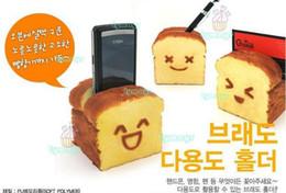 Wholesale Kawaii Card Holder - Wholesale-(20PCS) kawaii squishy Breadou Roti Toast squishy phone holder   card holder  pen holder free shipping wholesale price