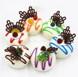 Wholesale Kawaii Plastic Food - 5cm cute kawaii squishy cake Jumbo buns food model DIY handmade toy Squishy   cheap mix color wholesale