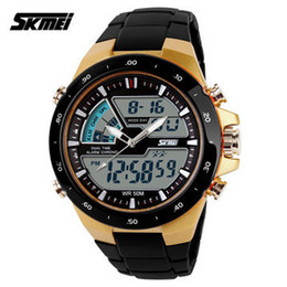 Wholesale Black Digits - Skmei Brand Man sports watches Men Relojes LED Digit Watch Relogio Masculino Fashion Casual Quartz Army military men Wristwatch