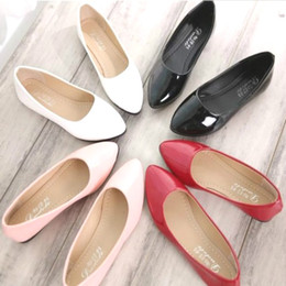 Wholesale Match Point Ruffle - A new candy color round flat shoes comfortable flat shoes lady all-match documentary l