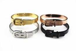 Титановый ремень черный онлайн-Винтажный стиль Анил Arjandas простой золото / серебро / черный бисер богатые для мужчин женщин пояс браслет мода INS горячие браслеты Титана стальные бусины