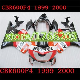 Wholesale Honda Parts For Sale - HOT SALES Fairing parts for HONDA CBR600 F4 99 00 CBR600F4 1999 2000 CBR600 99 00 fairing kits orange red yellow black white