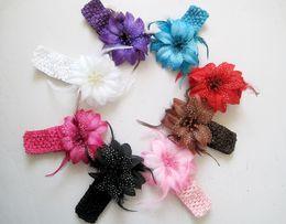 Wholesale Cheaper Feather Headbands - NEW!Feather princess hair band!flower baby headband,girls hair accessories,fashion cheap jewelry,charm headwear jewellery.25pcs.QF