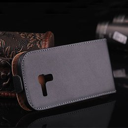 Wholesale Galaxy S3 Luxury Leather Case - Hot Selling Cases 30pcs lot Luxury Genuine Leather Case For Samsung i8190 Galaxy S3 Mini Flip Case Cover Free Shipping YXF02401