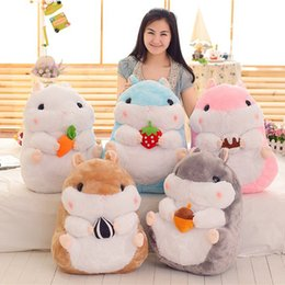 fat stuffed animals 2018 - Hot Sale 5pcs Lot 28cm   38cm Japan Fat Hamster Plush Doll Stuffed Toy For Child Gifts