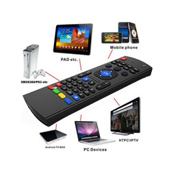 Micrófono multimedia online-X8 Mini teclado inalámbrico Fly Air Mouse remoto MIC Combo G-Sensor para MX3 MXQ M8 M8S M8N M95 Amlogic S905 5.1 Android TV BOX Reproductor multimedia