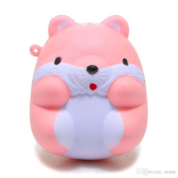 Wholesale Doll Phones - New Arrived 8CM Jumbo Cute Hamster Mouse Squishy Slow Rising Sweet Scented Soft Doll Phone Strap