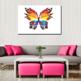 Wholesale Cheap Wall Art Decor - Modern paintings abstract butterfly large wall pictures for living room canvas wall art wall decor painting cheap home decor print art