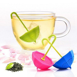 Wholesale Teapot Shape Tea Strainer - Umbrella Shaped Diffuser Ball Teapot Tool Tea Strainers Filter Silicone Coffee Filter Infusers Tea Bag OOA3698