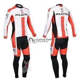 Wholesale Cycling Team Winter Jacket - KUOTA 2013 Team Winter Thermal Fleeced Cycling Jersey Jacket Road Bike MTB Clothing Top Only Plus Size XS-4XL