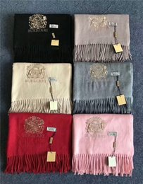 Wholesale Male Cashmere Scarf - The latest high quality male female autumn and winter cashmere scarf royal insignia is warm and comfortable full of aristocratic shawl scarf
