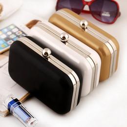 Wholesale Cheap Silver Clutch Purses - Women Cheap Orange Clutch Bags Shoulder Chain Messenger Bag Female Leather Clutch Purse Gold White Wholesale