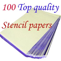 Wholesale Sheets A4 Tattoo - 100 Sheets A4 Tattoo Transfer Stencil Paper Top Quality T801