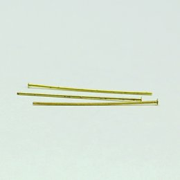 Alfileres online-Beadsnice gold plated brass head pin for jewelry making flat head straight pins jewellery findings wholesale ID 12927
