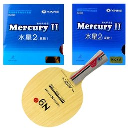 Wholesale Long Pimples Rubber - Wholesale- Yinhe N9s Mecury 2 yinhe Mercury 2 table tennis rubber with sponge 9021 quality finished racket Long Shakehand FL