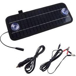 Wholesale Solar Panels For Car Batteries - 2015 High quality 5W 12V Portable Car Boat Power Solar Panel Battery Charger Panel Black Solar Panels