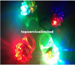 Wholesale Led Light Rave - Hot Sell Cool Led Light Up Flashing Bubble Ring Rave Party Blinking Soft Jelly Glow