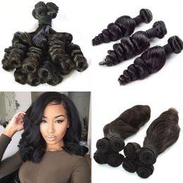 Cheveux péruviens de 18 pouces bon marché en Ligne-Péruvien Funmi Cheveux Curl Curieux Humains Tisse 3 Bundles Pas Cher Extensions de Cheveux Vierges 8-30 pouces FDshine