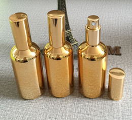 Wholesale Atomiser Spray Glass Bottle - 50pieces lot 100ml High temperature gold plated refillable empty atomiser spray perfume bottle,perfume container,perfume packing