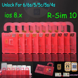 Wholesale Unlock Iphone 4s Sim - Best New RSIM 10 Super perfect R SIM 10 Unlock For All iPhone 6 Plus 6 5S 5C 5G 4S IOS 7.X 8.x T-mobible Sprint Verizon WCDMA GSM CDMA