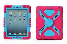 Wholesale Military Duty Case Retail - Pepkoo Spider Extreme Military Heavy Duty Waterproof Dust Shock Proof Cover Case For iPad 23456 Air12 ipad mini 123 retail package 1pcs UP