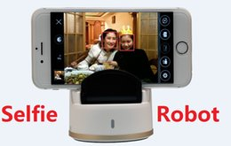 Wholesale Iphone Auto Rotate - New! Selfie Robot Auto face tracking multi mode 360 degree rotate take picture free portable selfie robot for Android iPhone DHL Free