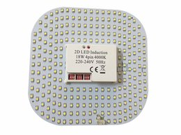 Wholesale Motion Sensor Led 12w - Free shipping 9W 12W 18W 2D LED lamp with Microwave Sensor GR10Q 4PIN 220V 240V 230V motion sensor 2D LED