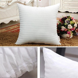 Wholesale Pillow Cover Cotton - Squre Pillow Inserts for Mermaid Pillows PP Cotton Stuffed Cushion Core Emoji Pillow Core Polyester Striped Covers 45*45cm YW234