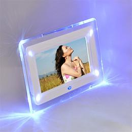 "Wholesale Photo Flash Player - New 7"" Remote Control LCD Digital Photo Albums Movies Frame MP3 Player Alarm Clock LED Light Flashing Q0149"