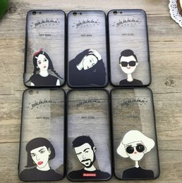 Wholesale Iphone Cases Cartoon Lovers - For Iphone 6 Phone 5 Case Fashion Man and Girl Hard lovers silicone+ PC cartoon Phone Case For iPhone6 Case Fone