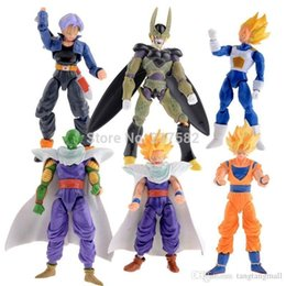 Wholesale Naruto Figure 6pcs - New 6pcs lot 15cm Dragon Ball DBZ Anime Goku Vegeta Piccolo Gohan super saiyan Joint Movable dragon ball z action figures Toy