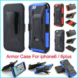 Wholesale Belt Clip Wallet Iphone Case - Shockproof Silicone cases X Style Hybrid Heavy Duty Armor Case With Kickstand Rotating Belt Clip Holster Cover for iPhone 6 Plus iPhone6