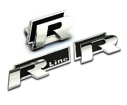 Wholesale Vw Golf Gti Badge - Volkswagen VW Golf MK4 GTI CC R20 R R-LINE Chrome Metal Car Tail Styling Emblem Badge 3D Car Sticker Decal Auto Exterior Decoration 1632