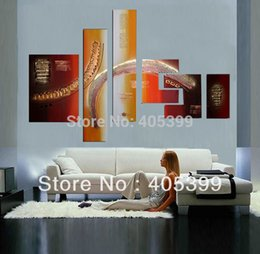Wholesale Oil Painting Designs Canvas - Bright Color 6pcs Oversized Speical Design!! 100% Real Handmade Modern Abstract Oil Painting On Canvas Wall Art JYJZ125