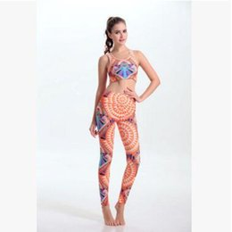 Wholesale Yoga Outfit Wholesalers - 20 Design Yoga Clothes Sets 2016 Yoga Printed Sets Outfits Sport Yoga Tank Top Fitness Yoga Pants Sets Yoga Wear Women Sportswear 96