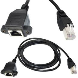 Wholesale Lan Extension - hot sale 100pcs 30CM RJ45 Cat5 male to female Ethernet LAN Screw panel mount Network extension Cable cord