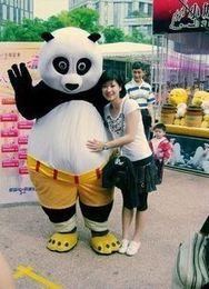 Wholesale Adult Kung Fu Panda Costume - fast shipping Mascot Costume Kung Fu Panda Cartoon Character Costume Adult Size Wholesale and retailS237