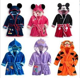 Wholesale Kids Terry Towelling Robe - wholesale kids clothes Mickey Minnie Mermaid Children's Towels Robes baby clothing Pajama Lingerie Sleepwear Bath Gown pjs Nightgown 123