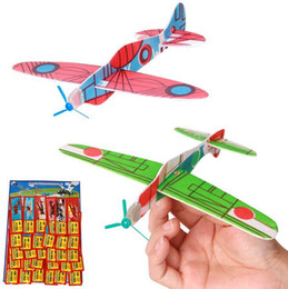 Wholesale Toy Glider Planes Kids - Flying Glider Planes Childrens Kids Christmas Toy Party Bag Toys Fillers Gifts