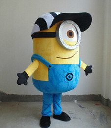 Wholesale Despicable Minion Halloween Costume - Freeshiping Brandnew despicable me minion mascot costume for adults