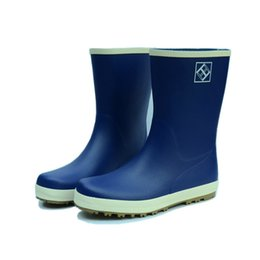 Wholesale Fishing Water Shoes - Wholesale- New 2016 Women Men Fashion Rubber Rain Boots Lovers Mid-calf Rainboots Water Shoes Wellies Non-slip Fishing Rain shoes #TS102