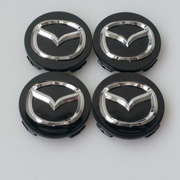 Wholesale Center Wheel Decals - Car Styling 56MM Mazda Wheel Hub Cap Decal Sticker for MAZDA 2 3 5 6 CX-5 CX-7 CX-9 RX8 Center Caps Auto Accessories